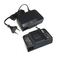 Hoge Kwaliteit Zwart EU US Plug Lader AC/DC Adapter Voeding Oplader Voor N64 Voor N64 Game Console Accessoires
