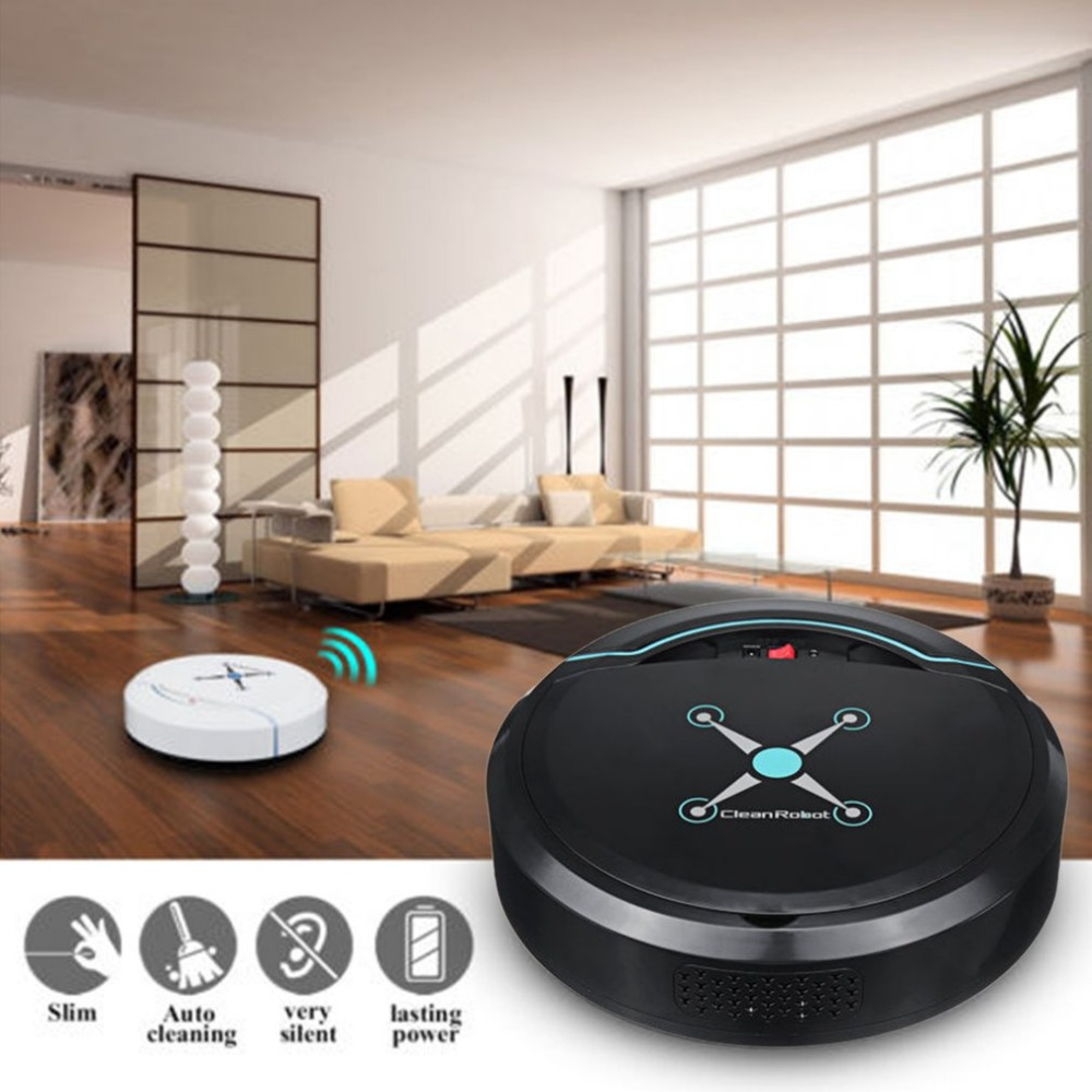 Rechargeable Automatic Cleaning Robot Smart Sweeping Robot Vacuum Floor Dirt Dust Hair Cleaner Home Sweeping Machine Sweeper