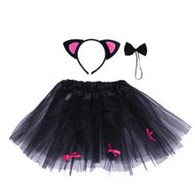 Baby Girl Halloween Clothes Set Beast Horn Magic Stick Hair Clasp Mesh Skirt Set Baby Infant Kids Girls Halloween Photo Props