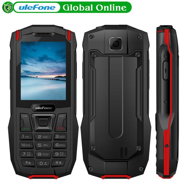 Ulefone Armor Mini Waterproof IP68 Phone Outdoor Mobile Phone 2.4″ MTK6261D Wireless FM Radio 2500mAh 0.3MP Phone