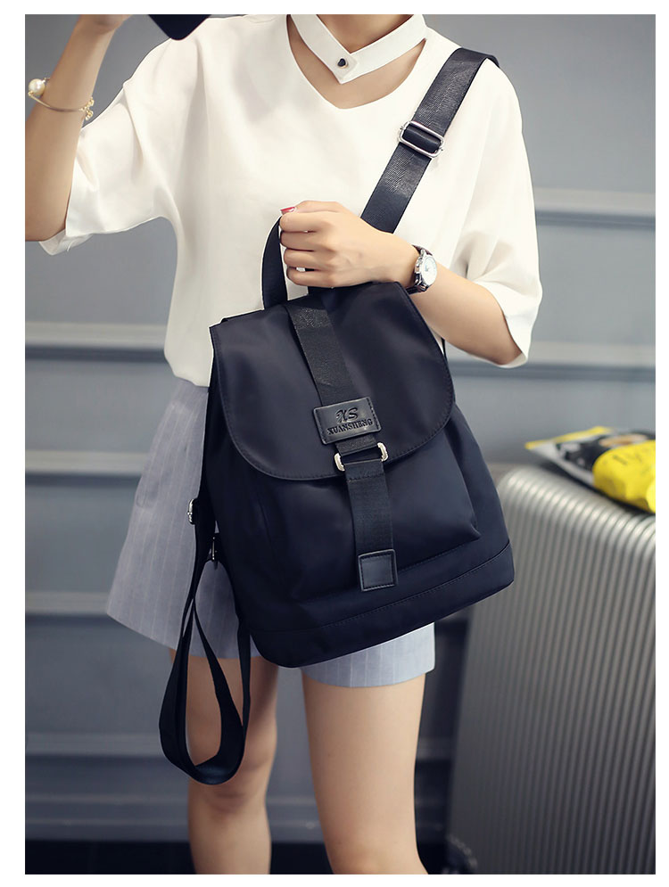 Women Cover Backpack PVC Leather Black Shoulder School Bags For Teenagers Girls Female Casual Travel Bags