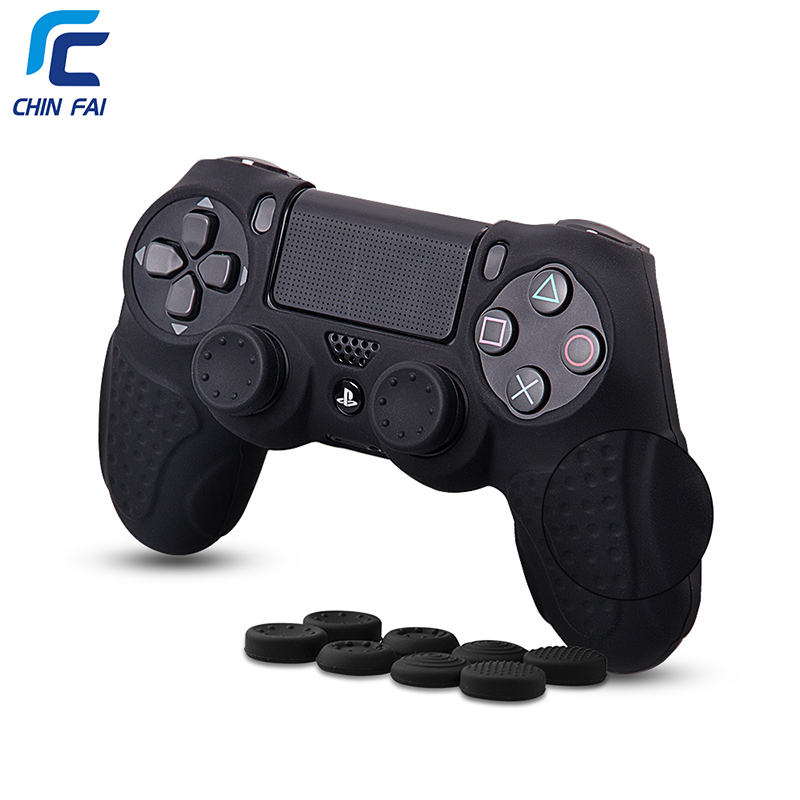 все цены на Case for PS4 Case with 8 Stick Thumb Grips Anti-slip Silicone Grip Case For Playstation 4 DualShock4 Controller Accessories онлайн