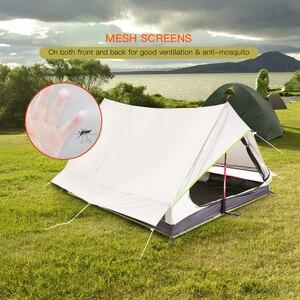 Image 5 - Lixada tienda de campaña ultraligera para 2 personas refugio de malla de doble puerta, perfecto para acampar, mochilero y a través de tiendas de campaña para acampar al aire libre
