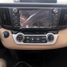Para Toyota RAV4 2014 2015 2016 2017 2018 ABS Acessórios Matte Interior Guarnição da Tampa do Ar Condicionado Asddjustment Quadro 1 pcs