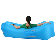 Light Fast Inflatable Sofa Lazy Bag Lounge Chair Air Hammock Nylon Sleeping Bag Camping Portable Adult Air Sofa Beach Bed