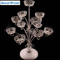 Sweettreats 1 Set 11 Cups Iron Cupcake Stand Birthday Party Hotel Cake Decoration Wedding Towers Tree