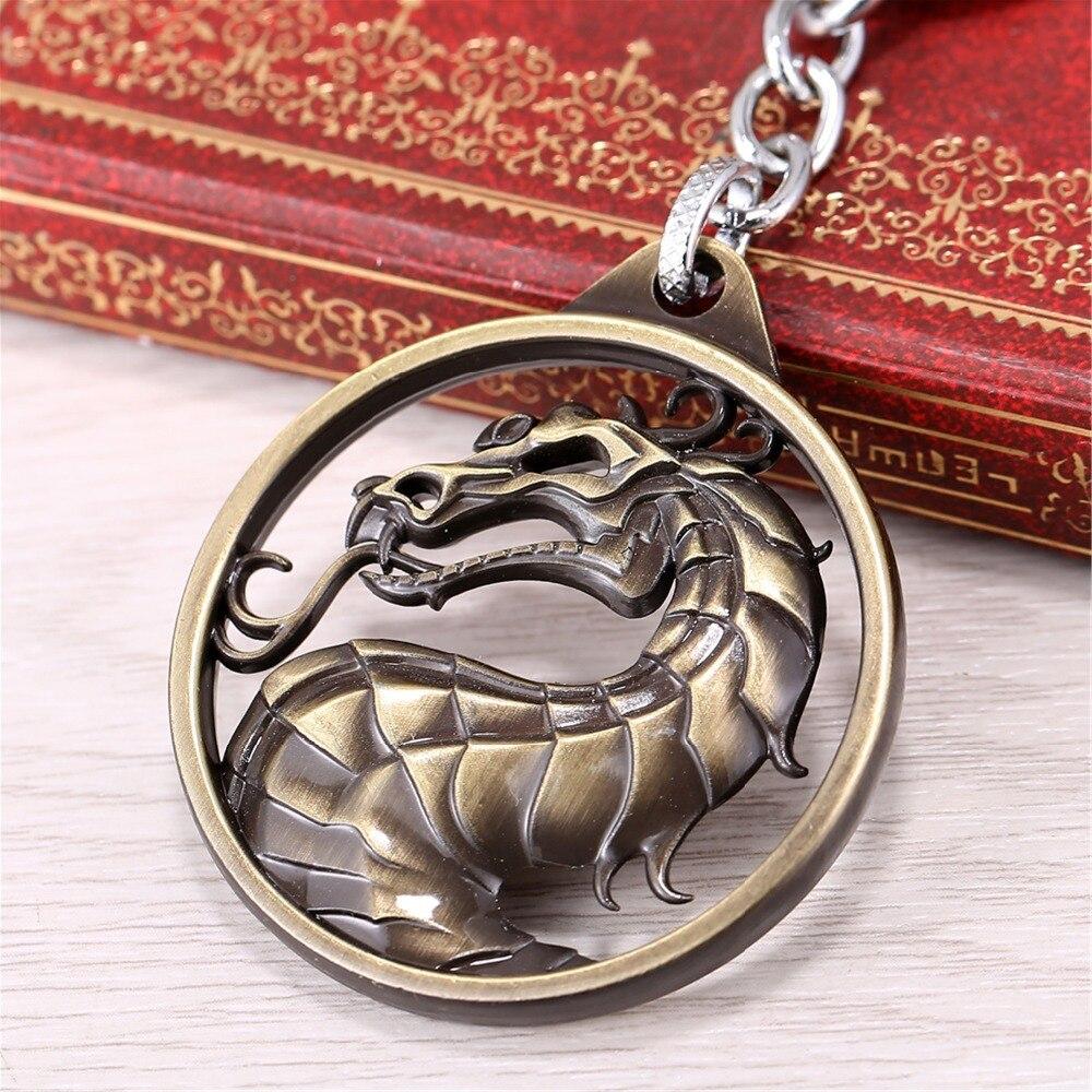 Mortal Kombat Naga Simbol Keychain Liontin Pame Pinggiran Jane Kalung Iks Tingkat 1 Kekaisaran Memerangi Permainan Logo Film Animasi Sekitar J R Di Aksi Toy Angka