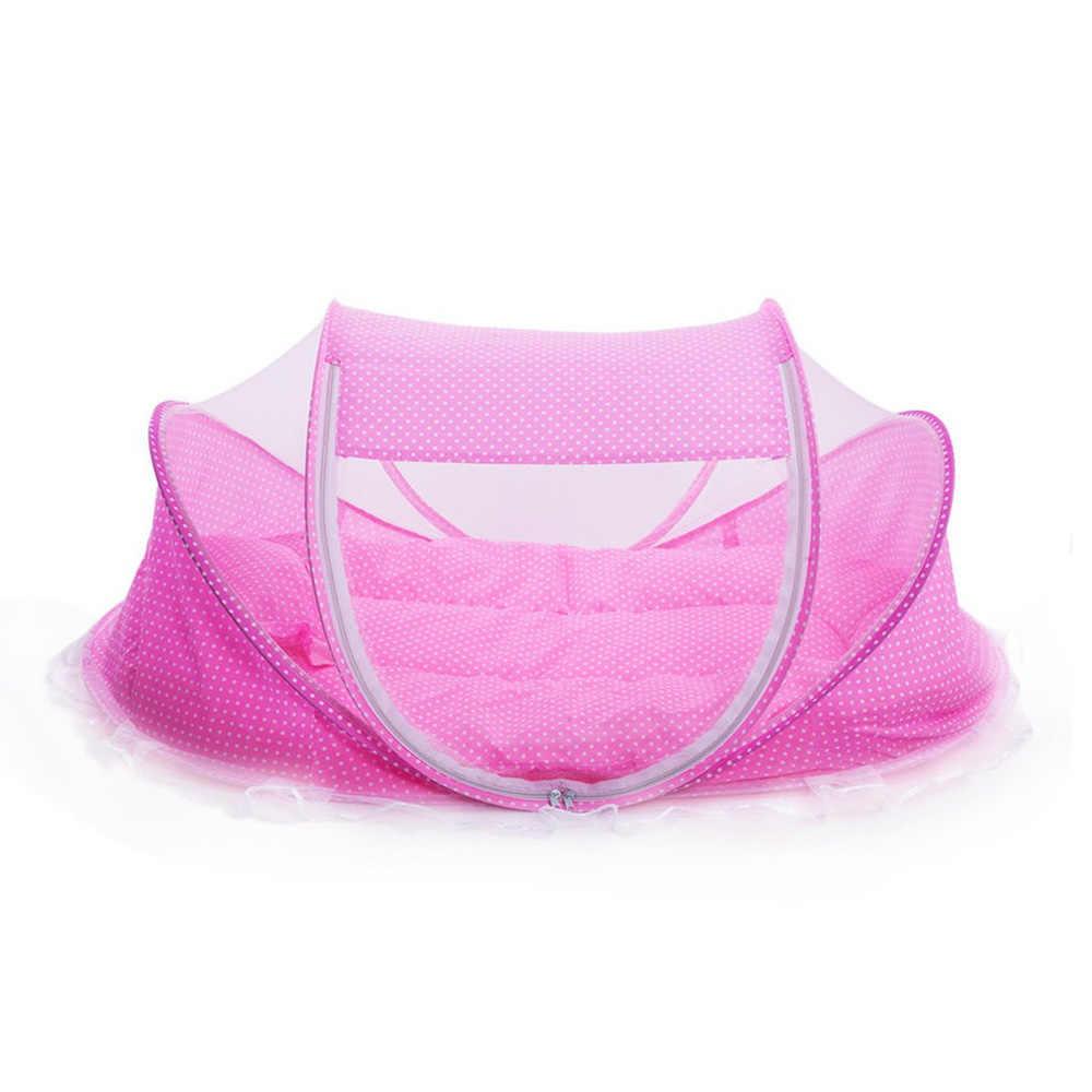 Летняя Детская переносная противомоскитная сетка детская складная кроватка коврик для ползания детский балдахин Бесплатная установка