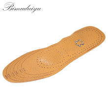 Free Size Unisex Leather AC Insole Absorb Sweat Shock Release Moisture Insole For Dress/Casual Shoes Men/Women Health Palmilhas