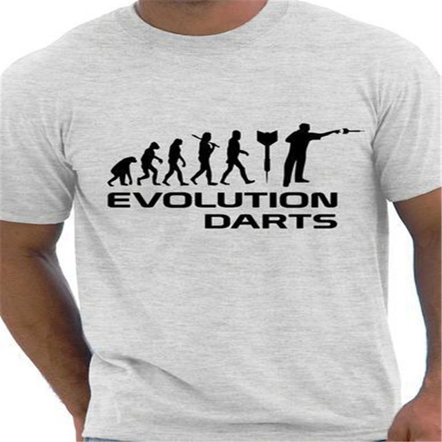 EVOLUTION OF DARTS PLAYER MENS T-SHIRT FUNNY GIFT PRESENT IDEA TEAM TOP DESIGN