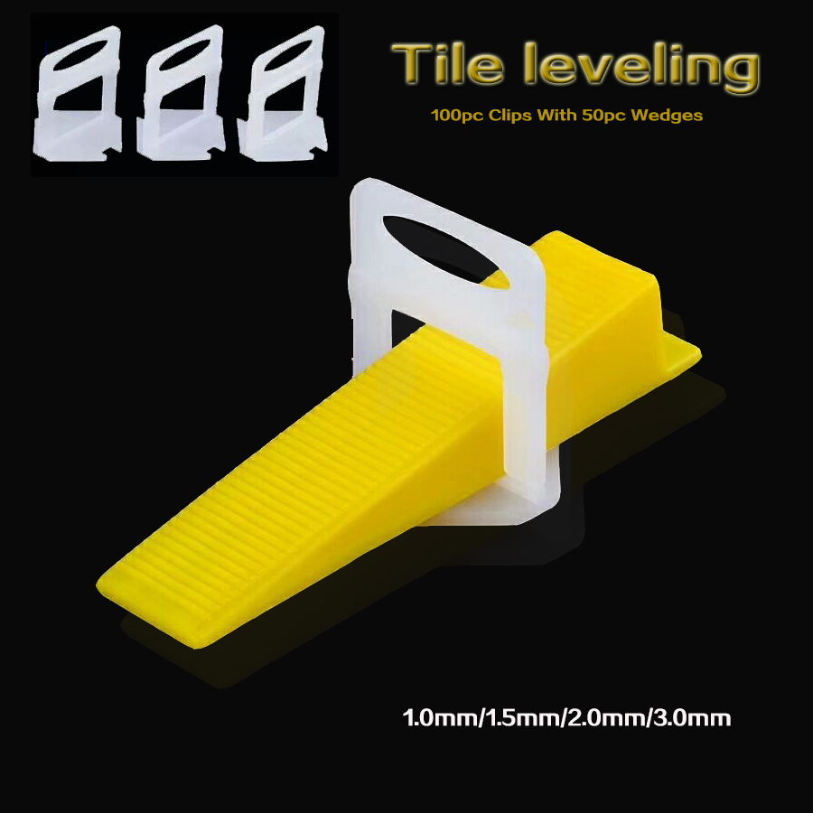 100pc Clips With 50pc Wedges Tile Spacers Leveler floor tiles ceramic Tiling Ceramic Tilers Plumbers 2mm Gap Wall Floor  100pc Clips With 50pc Wedges Tile Spacers Leveler floor tiles ceramic Tiling Ceramic Tilers Plumbers 2mm Gap Wall Floor
