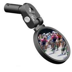 Espelho da bicicleta de estrada de corrida da bicicleta espelho guiador espelho flexível corrida segurança espelhos retrovisores ajustáveis inquebráveis