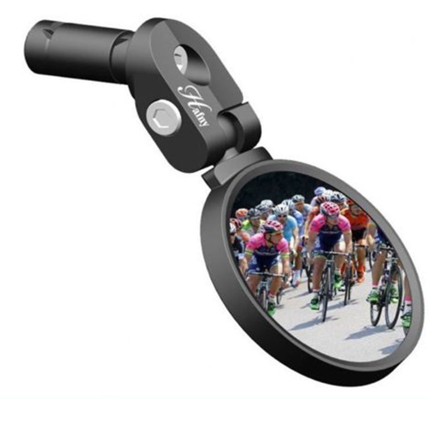 Hafny Bar End Bike Mirror HF-MR083 Black 62mm Safe Rearview Mirror