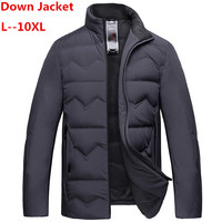 Plus size 10XL 8XL 6XL 9XL 5XL 4XL ultra weightlight thin thermal white goose down jacket men down outerwear autumn winter