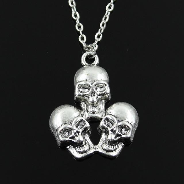 Three Skull Pendants Round...