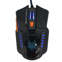 Hot-sale High Quality 7 Key Black Game Mouse Gifts 6D Gaming Mouse Optical Scroll Wired Mouse For Laptop Desktop New