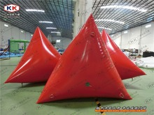 Promotion and sports training inflatable triangle buoys