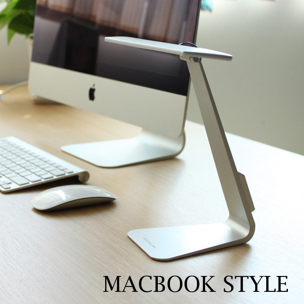 Eye protection led desk lamp mac style touch sensor led usb eye protection led desk lamp mac style touch sensor led usb rechargeable battery table lamps lamparas work reading office lights in desk lamps from lights geotapseo Choice Image