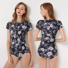 Paskah 2019 Wanita Lengan Panjang Menyelam Swimsuit One Piece Pantai Mandi Swimsuit Long Sleeve Suit Bañador(China)