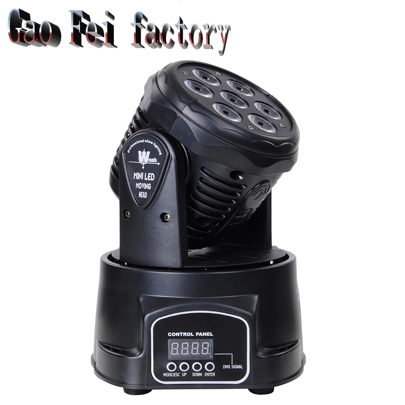 Led Moving Head DMX Wash 7x12w Mini Music Sound Light Stage Christmas Party Lumiere Laser Show Disco Dj Dmx Rgbw Light