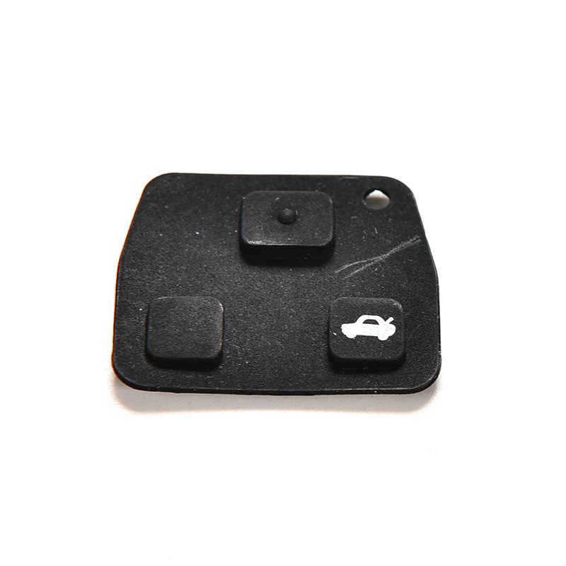 Gumowy klucz Pad 3 przyciski pilot samochodowy etui na klucze podkładki gumowe dla Toyota Avensis Corolla Lexus Rav4