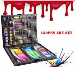 150 шт./компл. детский цветной набор карандашей для рисования художника, набор художественных маркеров, Набор цветных ручек, кисть для рисова...
