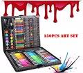 150 teil/satz Kinder Farben bleistiftzeichnung Künstler Kit Malerei Kunst Marker pen-Set Farbe Stift Pinsel Zeichnung Werkzeug Kunst schule