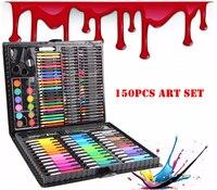 150pc/set Children Colors pencil Drawing Artist Kit Painting Art Marker pen Set Color Pen Paint Brush Drawing Tool Art School