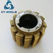 Yellow coating HSS DP20 Gear Hob Cutter PA20 degree 50*40*22hole