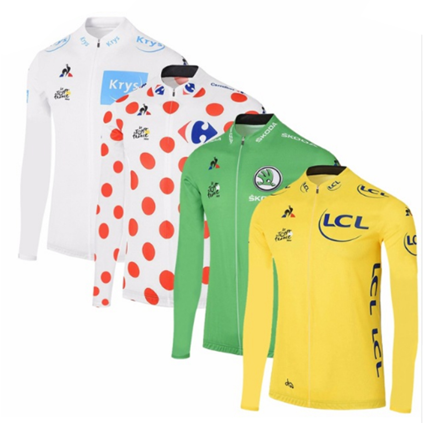 2017 Tour de France Men Long Sleeve Cycling Jersey Thin Anti-UV MTB Road Cycling Clothing Bicycle Wears Jackets Maillot Ciclismo цена