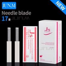 50 pcs 17R Microblading Needles Fog Eyeborw Semi Permanent Makeup Blade Shading Round Fog Tattoo Needle For Manual Pen