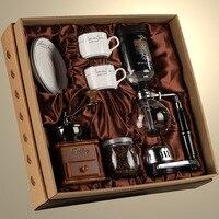 Ретро кофемолка сифоническая ручная кофемашина набор Подарочная коробка Бытовая стеклянная кофеварка