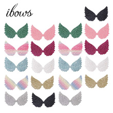 20pcs/bag  Glitter Wings Patches Colorful BlingBling Angel DIY Hair Bow Kids Toy Clothes Handmade Craft Accessories