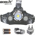 ZOOM USB Headlamp 9000LM L2 18650 L2 Led Camping head Lamp CREE L2 Lights rechargeable With Usb Cable