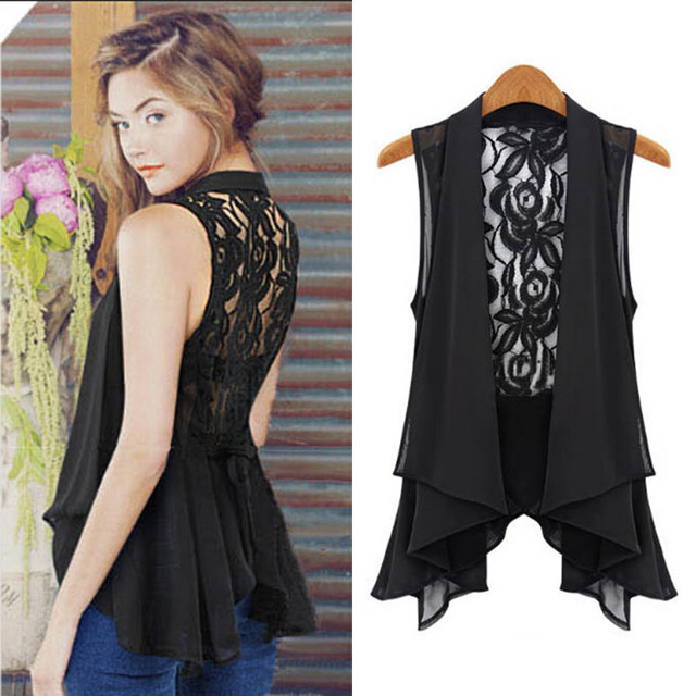 2017 New Fashion Women Causal Sleeveless Chiffon Cardigan Vest ...