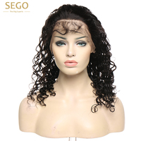 360 Lace Frontal Wig Deep Wave Pre Plucked with Baby Hair Curly Human Hair for Black Women 8 24 inch Natural Color Free Part
