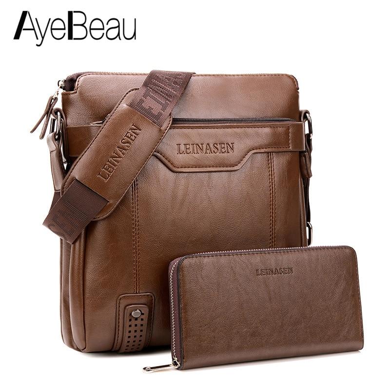 Portable Hand Work Business Office Male Messenger Bag Men Briefcase For Document Handbag Satchel Portfolio Brief Case Partfel