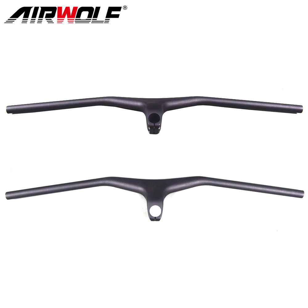 Airwolf Mountain Bike Handlebar Carbon Mtb Integrated Flat Carbon Handlebars With 17 degree Stem Bicycle accessoires