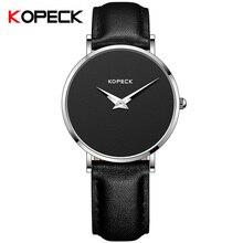 KOPECK Fashion Simple 6mm Ladies Watch Sapphire Crystal Glass Luxury Leather Dress Women Clock Women's Quartz Wrist Watches