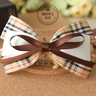 Freeshipping NEW high quality ribbon bow elastic Hair Band Hair ties headband Hair Accessories korean style