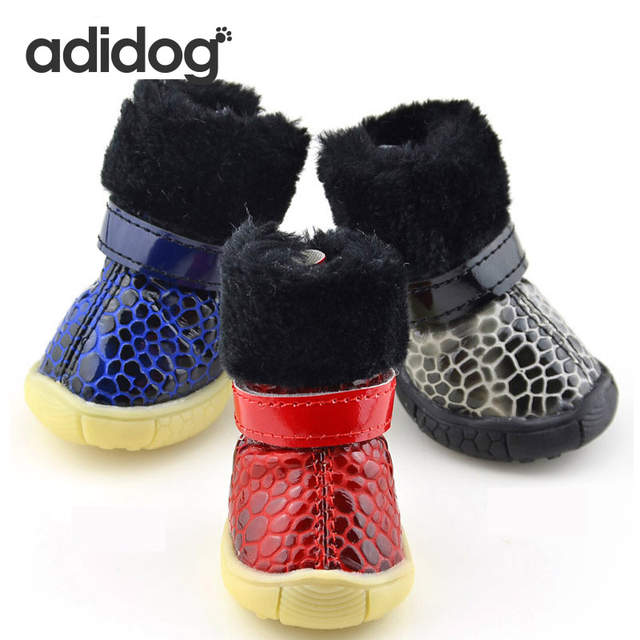 1d0bb3e8d2 Online Shop Pet Dog Shoes Snow Winter 4pcs set Dog s Boots Waterproof  Cotton Super Warm Anti Slip XS-XL Pet Cat Product ChiHuaHua Small Big