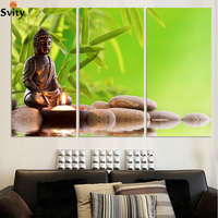 3 Piece Hot Sell Modern Wall Painting Buddhism The Buddha face Home Decor Art Picture Paint on Canvas Prints no frame