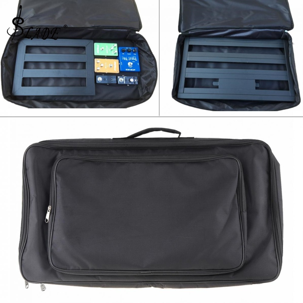 60*33*10cm Black Universal Portable Guitar Effects Pedal Board Gig Bag Soft Case Big Style  DIY Guitar Pedalboard-in Guitar Parts & Accessories from Sports & Entertainment