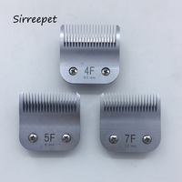 3pcs/lot 4f+5f+7f Free shipping Sirreepet dog clipper detachable blade fit Oster A5 A6 Oster A Classic power series blade