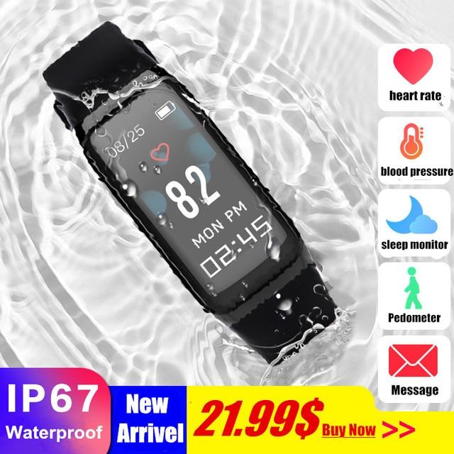 "0.96"" Color screen Smart Bracelet Blood pressure &Heart rate Monitor Waterproof Watch ActivityTracker Smart Wristband smart band"