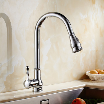 kitchen  MTTUZ Hot and cold water pull out basin chrome brass faucets basin Swivel a Mixer Tap Faucet single handle home supplie