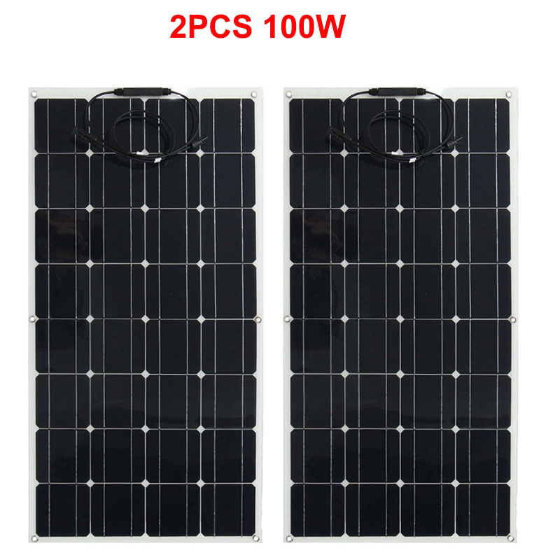 Newly flexible solar panel; solar panel 200w 12V; solar cell 12V; solar battery charger for home, marine, RV, Boat, Camper boguang 16v 90w solar panel quality cell aluminum board for home system car rv boat yacht 12v battery charger