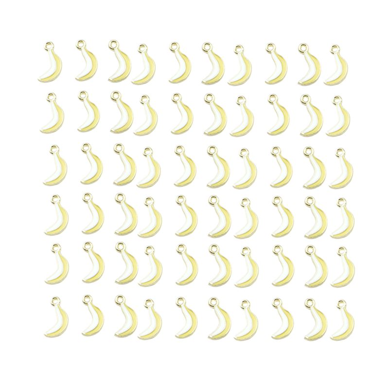 0.9X1.7Cm 60Pcs Banana For Earrings Accessories/Earring Parts Jewelry Handmade Making Mini-Alloy Pendant