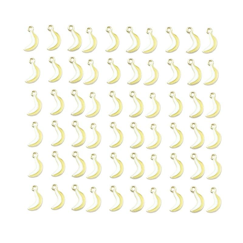 0.9X1.7Cm 60Pcs Banana For Earrings Accessories/Earring Parts Jewelry Handmade Making Mini-Alloy Pendant