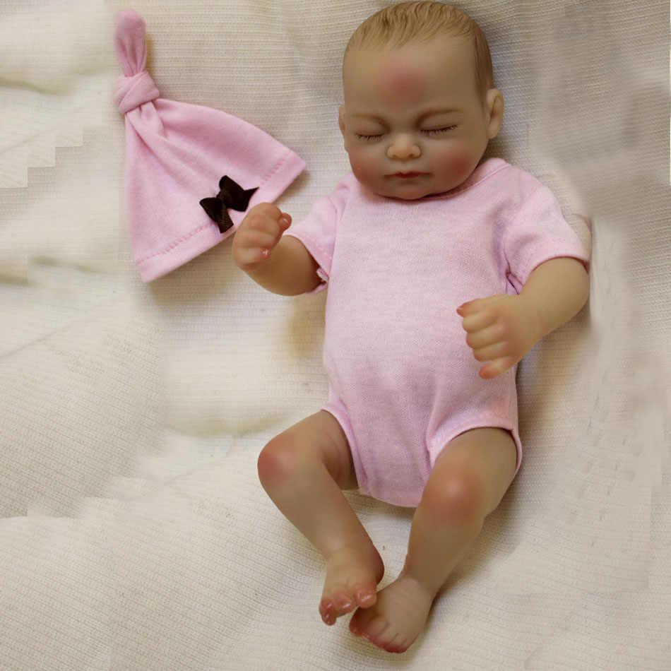 """OtardDolls bebe reborn doll 10 """"Full slicone reborn очаровательные детские куклы ручной работы, картина, волосы, подарок, Bonecas, игрушка для ванны"""